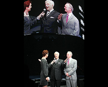 Buddy & David accepted the Hall of Fame award from Ann Mincey in front of a crowd of 10,000 people at the 2011 Redken Symposium
